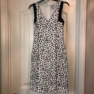 H&M Black and White Dalmatian Print Dress